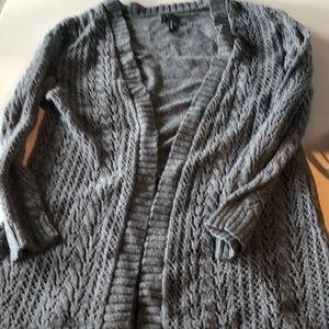 Medium grey Maurice's open cardigan